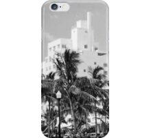 Ocean Drive, South Beach, Miami in Black and White iPhone Case/Skin
