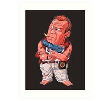 John McClane (Bruce Willis) - Akira Toriyama style Art Print