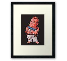 John McClane (Bruce Willis) - Akira Toriyama style Framed Print