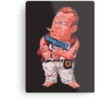 John McClane (Bruce Willis) - Akira Toriyama style Metal Print