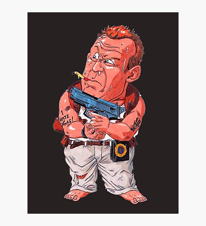 John McClane (Bruce Willis) - Akira Toriyama style Photographic Print