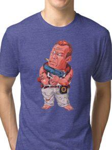 John McClane (Bruce Willis) - Akira Toriyama style Tri-blend T-Shirt