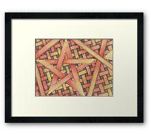 wicca Pentagram  Framed Print