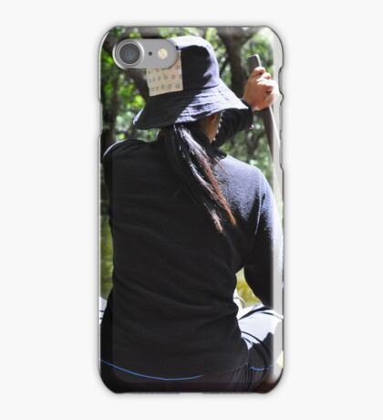 Punting through the Mangroves iPhone Case/Skin