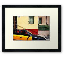 Barcelona - Taxi Framed Print
