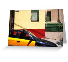Barcelona - Taxi Greeting Card