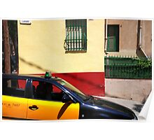 Barcelona - Taxi Poster