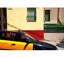 Barcelona - Taxi Photographic Print