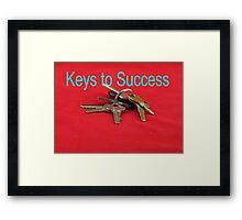 Keys to Success Framed Print
