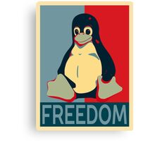Tux Freedom for Linux Users Canvas Print
