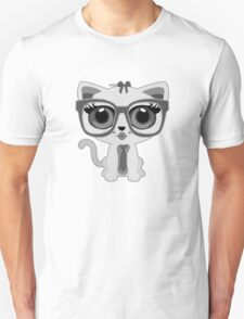 Kitten Nerd - Grey T-Shirt