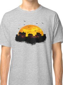 Cool Sunset - City Skyline - Cute Birds Classic T-Shirt