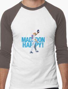 MaddonHappy! Wavetype Men's Baseball ¾ T-Shirt