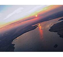 Smokey Sunset Photographic Print