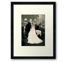The Aisle  Framed Print