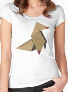 HEAVY RAIN: ORIGAMI BIRD Women's Fitted Scoop T-Shirt