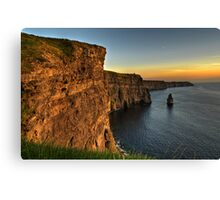 Scenic Irish Sunset Nature Landscape Rural Countryside Photography. The Cliffs of Moher Mohair Seascape, County Clare, Ireland Irlanda. Canvas Print