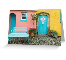 The colours of Portmeirion Greeting Card