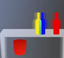 Colorful bottles - still life 5 by Marlies Odehnal