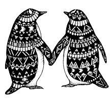 Penguin Couple Photographic Print