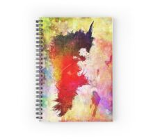 Transitory - Canvas Texture - Abstract Face Spiral Notebook