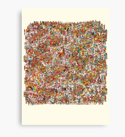Where is wally in this product? Canvas Print
