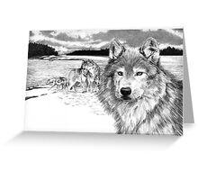 Wolves at Rainey Lake Greeting Card
