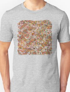 Where is wally in this product? Unisex T-Shirt