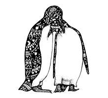 Penguin Hug Photographic Print