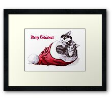 Christmas kittens Framed Print