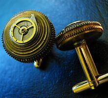 Working Clockwork Cufflinks- Steampunk, Victorian by Kristi B