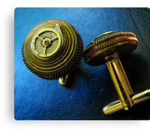 Working Clockwork Cufflinks- Steampunk, Victorian Canvas Print