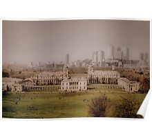 Greenwich to Canary Wharf Poster