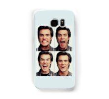 Jim Carrey faces in color Samsung Galaxy Case/Skin