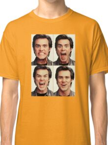 Jim Carrey faces in color Classic T-Shirt