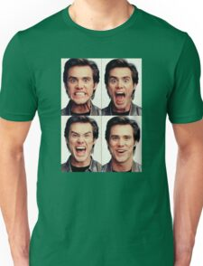 Jim Carrey faces in color Unisex T-Shirt
