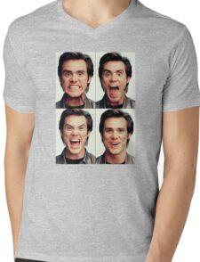 Jim Carrey faces in color Mens V-Neck T-Shirt