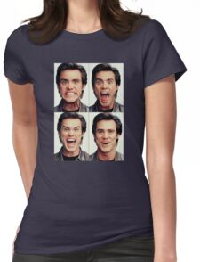 Jim Carrey faces in color Womens Fitted T-Shirt