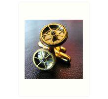 Simple Gear Cufflinks - Steampunk, Victorian Art Print