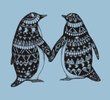 Penguin Couple One Piece - Short Sleeve