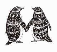 Penguin Couple Kids Tee