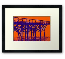 On the Beach #18c Framed Print