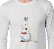 Alice the white rescue rabbit Long Sleeve T-Shirt