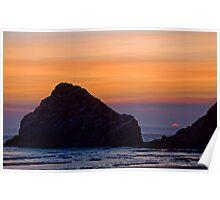 Heceta Head Sunset Poster