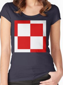 Polish Air Force Insignia  Women's Fitted Scoop T-Shirt