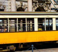 Vintage tram in Milano, ITALY Sticker