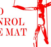 Be the Puppeteer and Control the Mat Jiu Jitsu Red Sticker
