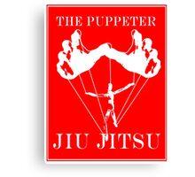 The Puppeteer Jiu Jitsu White  Canvas Print