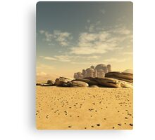 Desert Town Swallowed by the Sand Canvas Print