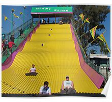Screaming Yellow Slide Poster